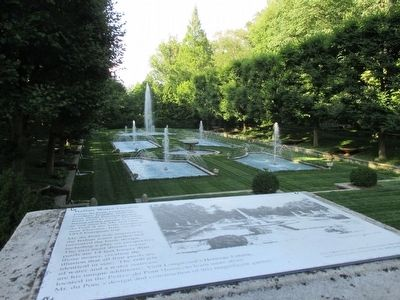 Italian Water Garden & Marker image. Click for full size.