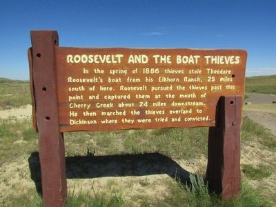 Roosevelt and the Boat Thieves Marker image. Click for full size.