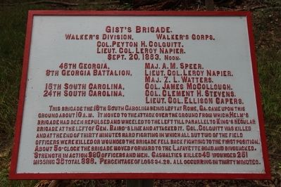Gist's Brigade Marker image. Click for full size.
