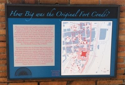 How Big was the Original Fort Condé? Marker image. Click for full size.