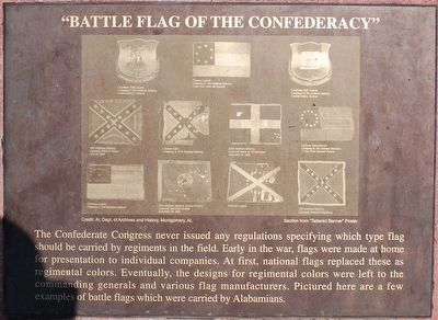 """Battle Flag of the Confederacy"" Marker image. Click for full size."