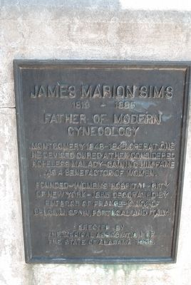 James Marion Sims Marker image. Click for full size.