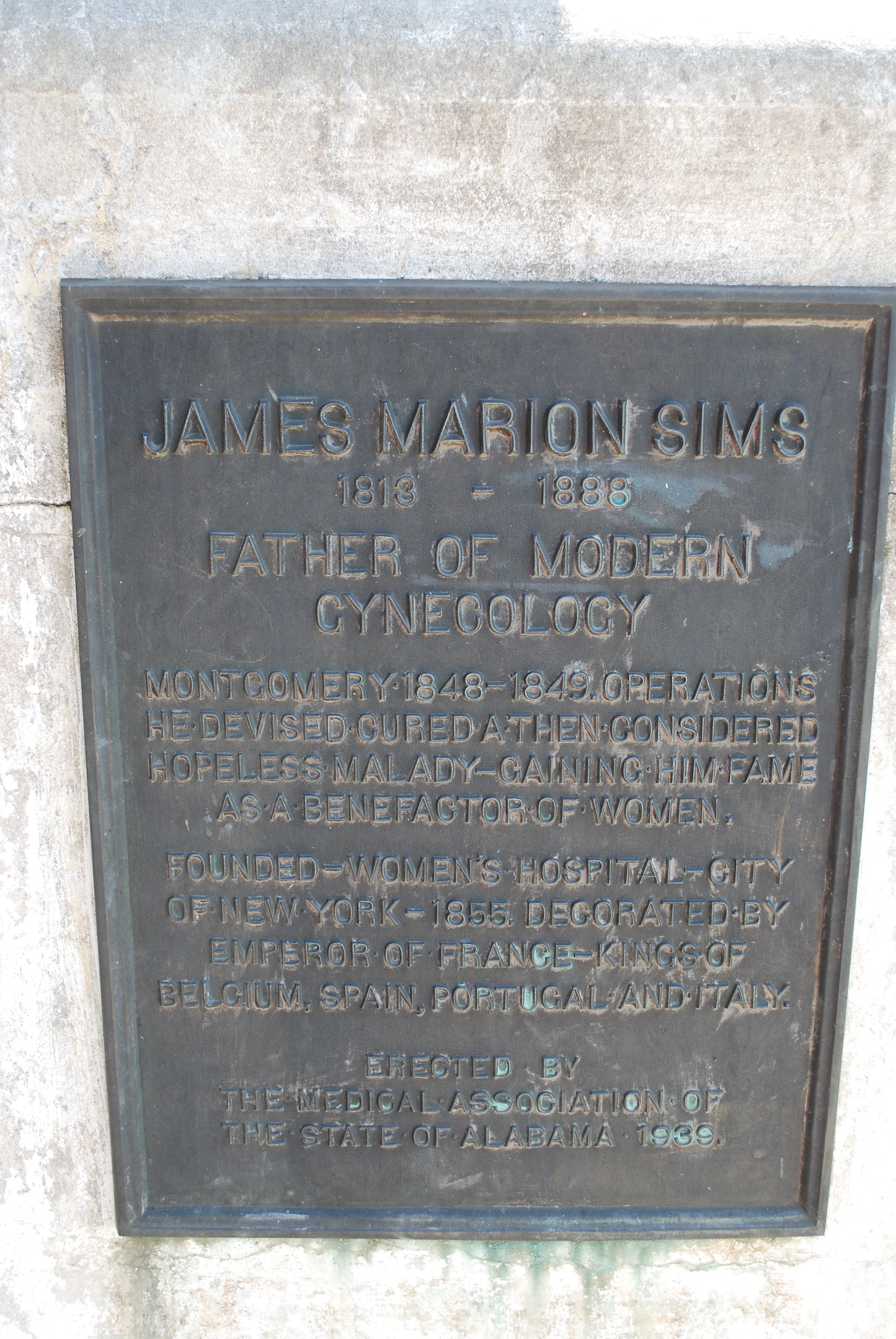 James Marion Sims Marker