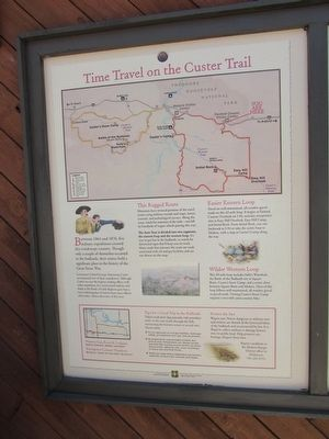 Time Travel on the Custer Trail Marker image. Click for full size.