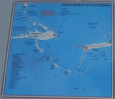 Union Assault on Fort Gaines Map image. Click for full size.