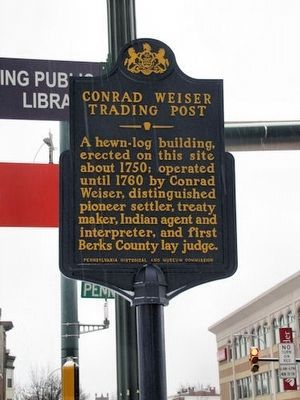 Conrad Weiser Trading Post Marker image. Click for full size.