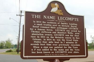 The Name Lecompte Marker image. Click for full size.