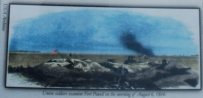 Union Soldiers Examine Fort Powell image. Click for full size.