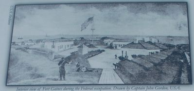 Drawing of Fort Gaines During Union Occupation image. Click for full size.