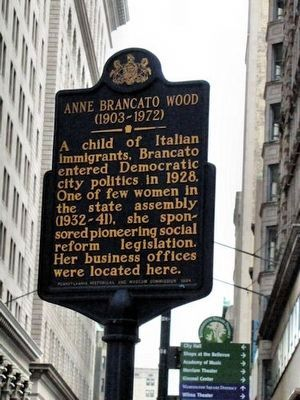 Anne Brancato Wood Marker image. Click for full size.