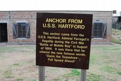 Anchor From U.S.S. Hartford Marker image. Click for full size.