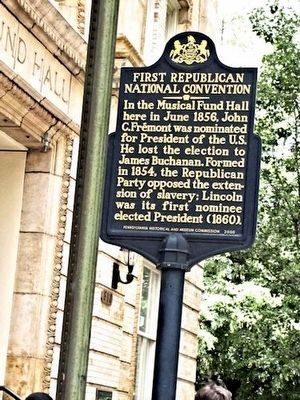 First Republican National Convention Marker image. Click for full size.