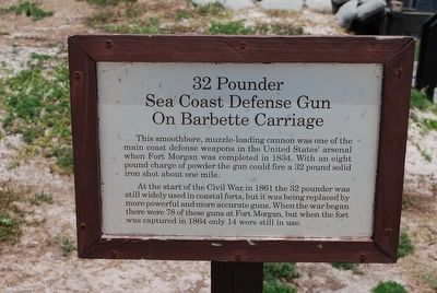 32 Pounder Sea Coast Defense Gun Marker image. Click for full size.
