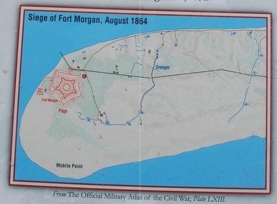 Siege of Fort Morgan August 1864 image. Click for full size.