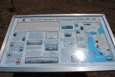 """Damn The Torpedoes!"" The Campaigns for Mobile, 1864 - 1865 Marker image. Click for full size."