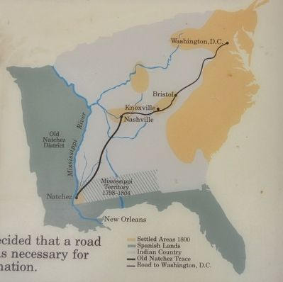 A National Road from Natchez to Washington D.C. image. Click for full size.