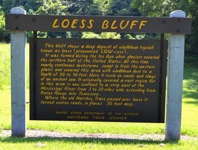Loess Bluff Marker image. Click for full size.
