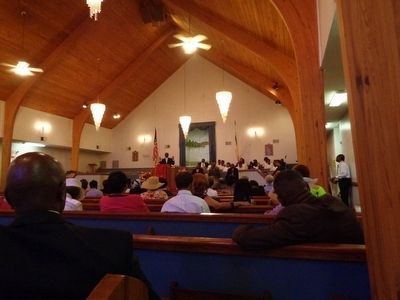 Oakville Missionary Baptist Church Sanctuary image. Click for full size.