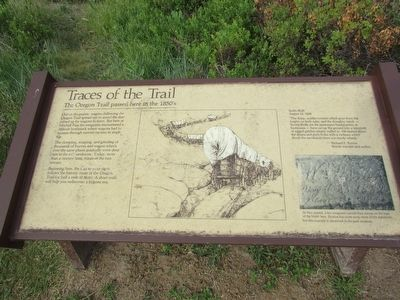 Traces of the Trail Marker image. Click for full size.