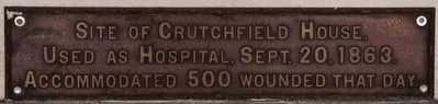 Site of Crutchfield House Marker image. Click for full size.