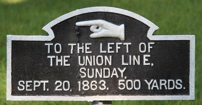 To The Left of the Union Line Marker image. Click for full size.