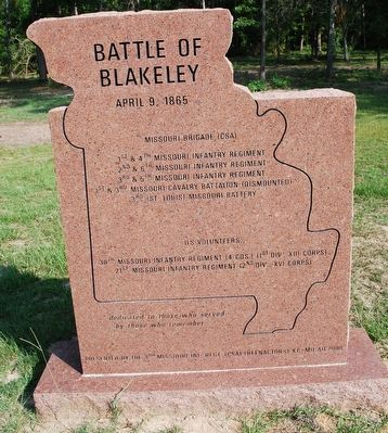 Battle of Blakeley Marker image. Click for full size.