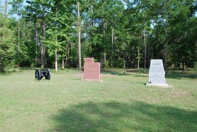 Fort Blakely and Alabama Markers image. Click for full size.