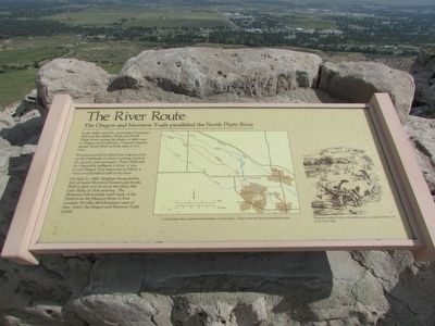 The River Route Marker image. Click for full size.