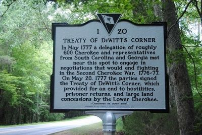 Treaty of DeWitt&#39;s Corner Marker<br>Front image. Click for full size.