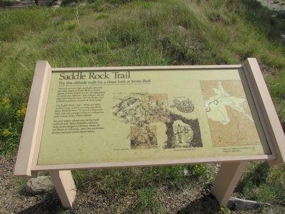 Saddle Rock Trail Marker image. Click for full size.