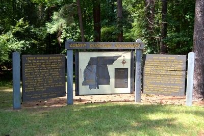 Lower Choctaw Boundary Marker image. Click for full size.