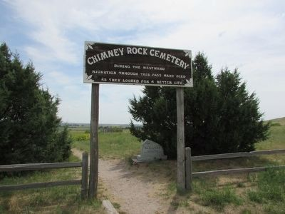 Marker at Chimney Rock Cemetery image. Click for full size.