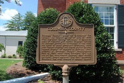 Columbia County Marker<br>Refurbished image, Touch for more information