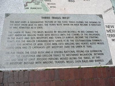 Three Trails West Marker image. Click for full size.