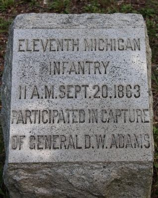 11th Michigan Infantry Marker image. Click for full size.