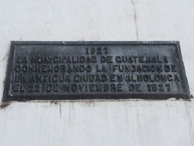 Founding of the First Capital of Guatemala Marker image. Click for full size.