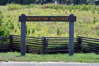Mangum Mound Marker (Missing) image. Click for full size.