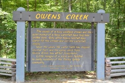 Owens Creek Marker image. Click for full size.