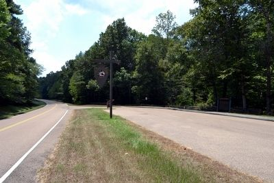 View to South on Natchez Trace Parkway image. Click for full size.