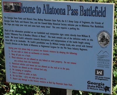 Welcome to Allatoona Pass Battlefield Marker image. Click for full size.