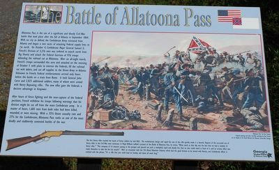 The Battle of Allatoona Pass Marker image. Click for full size.