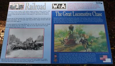 The Railroad/ The Great Locomotive Chase Marker image. Click for full size.
