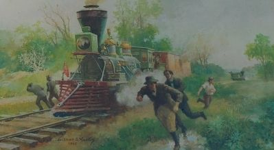 The Great Locomotive Chase- End of Chase image. Click for full size.