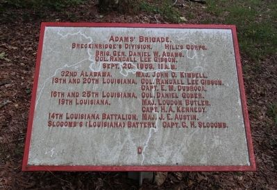 Adams' Brigade Marker image. Click for full size.