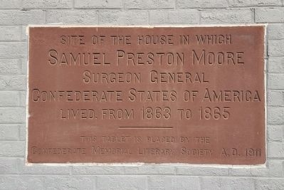 Samuel Preston Moore Marker image. Click for full size.