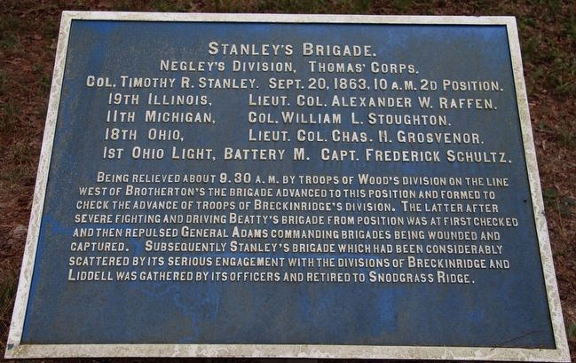 Stanley's Brigade Marker image. Click for full size.