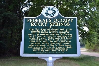 Federals Occupy Rocky Springs Marker image. Click for full size.