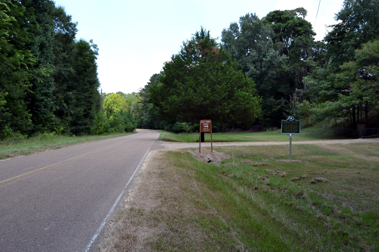 View to North Along Old Port Gibson Road