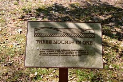 Three Mounds in One Interpretive Sign image. Click for full size.