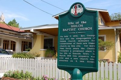 Site of the Shiloh Baptist Church Marker image. Click for full size.